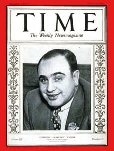 "Аль Капоне на обложке ""Тайм"""