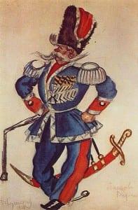 Б.Кустодиев. Атаман Платов. 1924