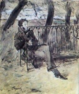 В.Серов. Пушкин в парке. 1899