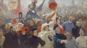 И.Репин. Манифестация 17 октября 1905 года