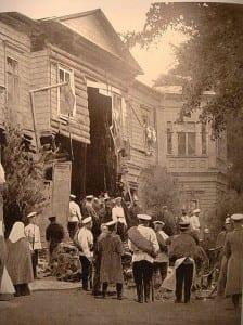 Дача Столыпина после взрыва бомбы 12 августа 1906