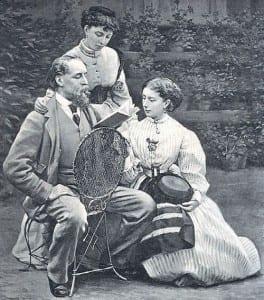Чарльз Диккенс с дочерьми Мейми и Кейт