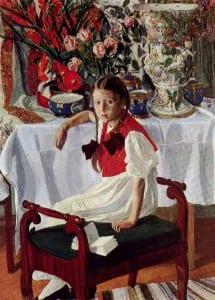 А.Головин. Девочка и фарфор. 1916