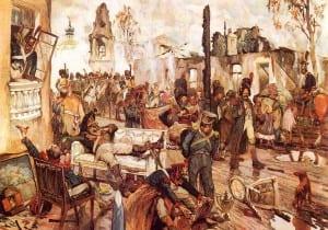 Д.Кардовский. Французы в захваченной Москве