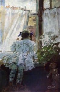 Б.Кустодиев. У окна. 1910