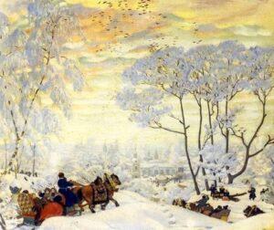 Б.Кустодиев. Зима. 1916