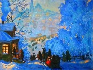 Б.Кустодиев. Зима