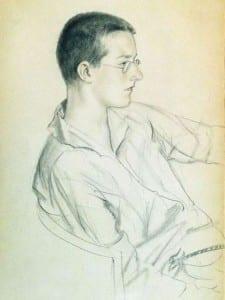 Б.Кустодиев. Портрет Мити Шостаковича. 1923
