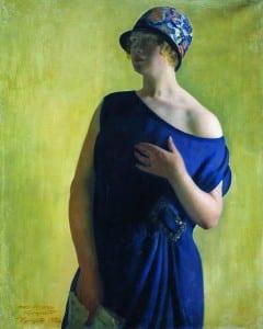 Б.Кустодиев. Портрет И.Б.Кустодиевой, дочери худохника. 1926