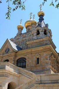 Русский православный храм Марии Магдалины в Иерусалиме, где похоронены останки великой княгини