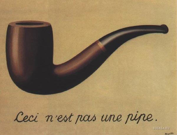 Рене Магритт. Это не трубка