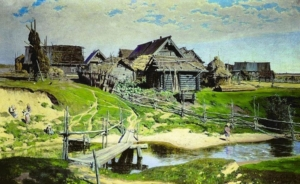 Василий Поленов. Русская деревня. 1889