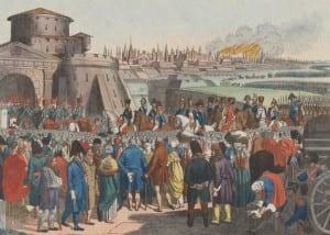 К.Фридрих. Вступление Наполеона в Москву 14 сентября 1812 года.