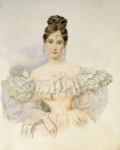 Брюллов. Наталья Пушкина. 1831-1832