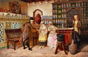 Старинная испанская аптека