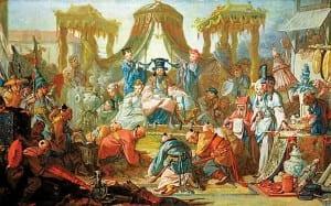 Император в окружении евнухов