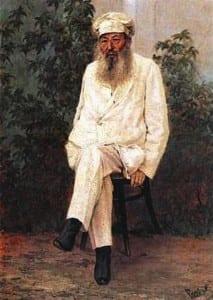 Фет. Портрет работы Н. Рачкова. 1880-е гг.