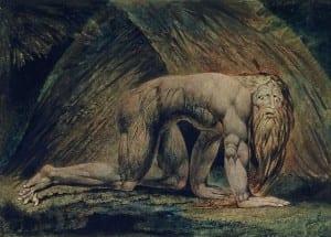 Навуходоносор. Художник Уильям Блейк. 1795.