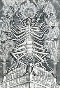 Разумное членистоногое. Рисунок Александра Белова