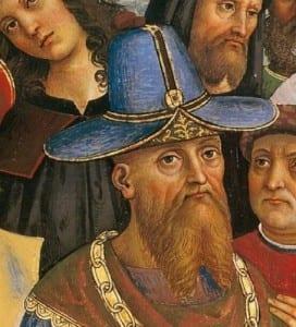 Фома Палеолог, отец Софьи. фреска Пинтуриккио.