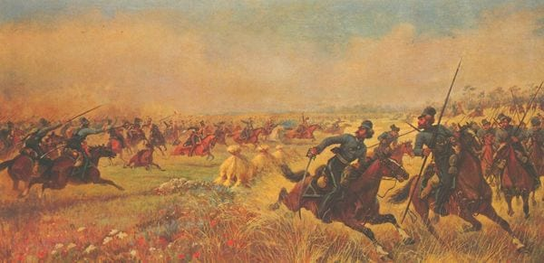 В.Мазуровский. Дело казаков Платова под Миром. 1912