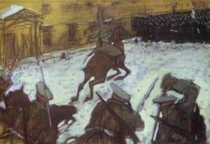 В.Серов. Солдатушки, бравы ребятушки. Где же ваша слава? 1905