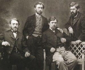 Братья Хлудовы: Иван, Егор, Михаил, Василий