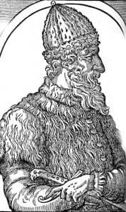 """Иван III. Гравюра из """"Космографии"""" А.Теве. 1575"""