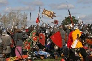 Ряженые воины на Куликовом поле