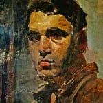 Б.Кустодиев. Автопортрет