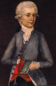 Вольфганг Моцарт. Неизвестный художник.  1803 г., Музей в Вене