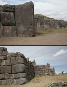 Зубцы стен (вверху – центр; внизу – фланги «крепости»)