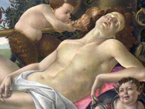 Фрагмент картины «Венера и Марс». Сандро Боттичелли.  1483 г.