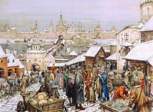 А.Васнецов. Новгородский торг