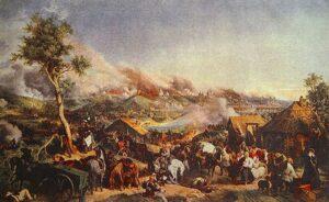 П. Гесс. Сражение под Смоленском. 5 августа 1812 г.