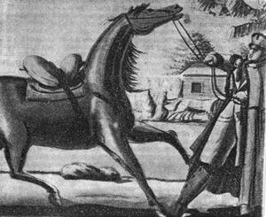 Чичерин со своей лошадью Арапкой. 30 ноября 1812 года