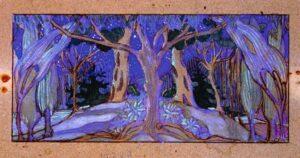 Н.А. Фердинандов. Лес. Проект сценографии к пьесе «Синяя птица». 1921 год
