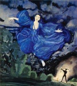 К. Сомов. Синяя птица. 1918 год.
