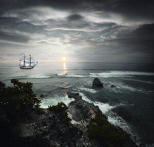 Кораблик у берега