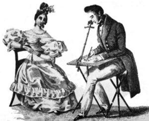 Так использовалась камера-люцида. 1807 г.