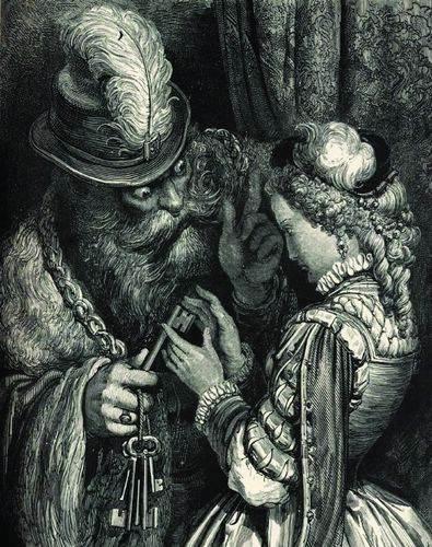 Синяя борода, гравюра Гюстава Доре [%P]