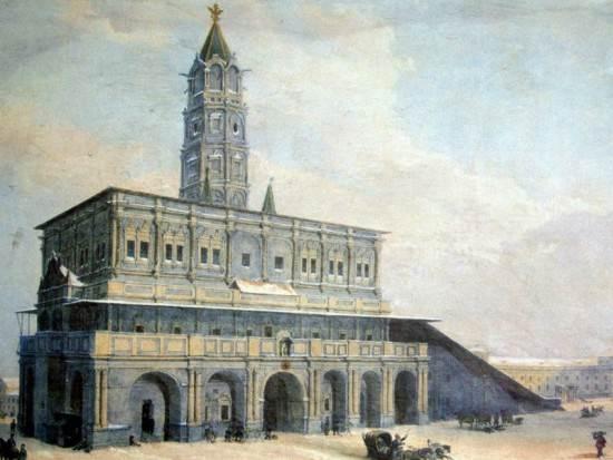 Вид Сухаревой башни