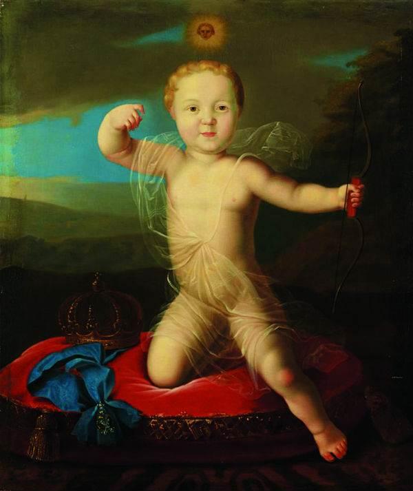 Портрет младенца царевича Петра Петровича